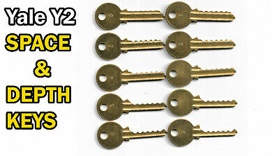 Yale Y2 Code Cut Space And Depth Keys 6 Pin
