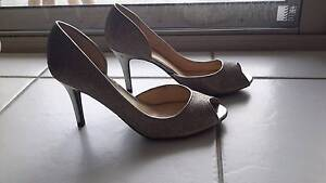 Silver high heels size 8 great value Runaway Bay Gold Coast North Preview