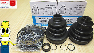 Rear Inner & Outer CV Axle Boot Kit for Polaris Sportsman 500 w/ 4x4 1999 ( 99 -