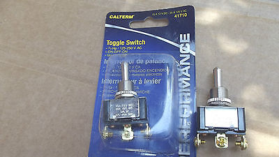 """2 CALTERM 41710 TOGGLE SWITCHES,ON-OFF-ON,3 SCREWS,1/2"""",15 AMP12 V,20 AMP125V AC"""