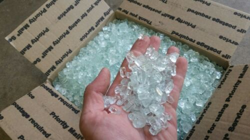 30lbs+Paradise1/2inch white crystal fire glass, fire pit, fi