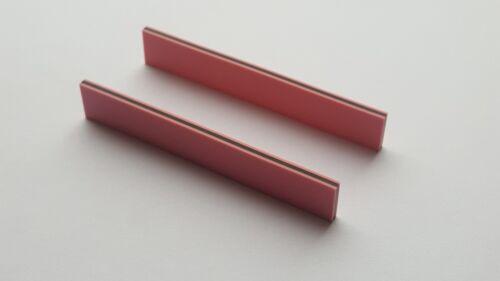Two Zebra Strips (Elastomeric connectors) 70 x 11 x 2.5 mm (L x H x W)