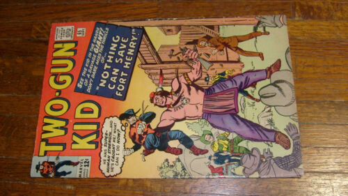 TWO GUN KID #65, vintage MARVEL WESTERN COMIC, G+, GIANT INDIAN COVER