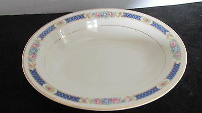 SYRACUSE CHINA HADDON BLUE BAND FLOWERS OLD IVORY OVAL VEG SERVING BOWL 10 X (Banded Ivory China Serving Bowl)
