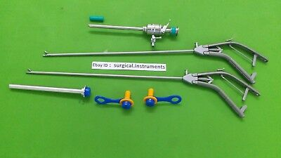 Storz-type Needle Holder Curvd Jaw Straight Jaw 5mmx330mm Laparoscopic Surgica