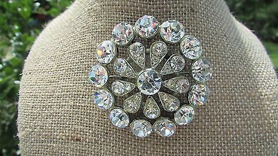 ANTIQUE RHINESTONE PIN GREATEST CLARITY AND SPARKLE I HAVE EVER SEEN