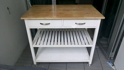 Kitchen trolley bench butchers block with draws