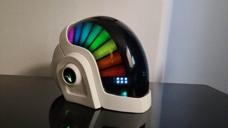 White Daft Punk LED Helmet