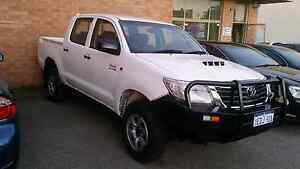 2013 Toyota Hilux 4x4 Dual Cab Diesel White Manual Osborne Park Stirling Area Preview
