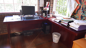 Large Wooden Office Desk with Return Denistone Ryde Area Preview