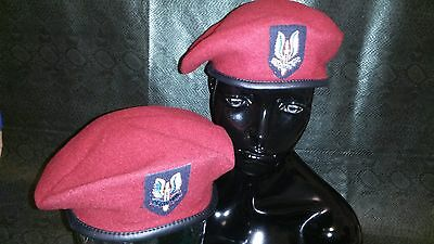 2 LOT WW2 1944 SAS special air service BRITISH PARATROOPER MAROON WOOL BERET.