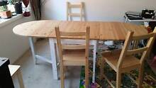 Great dinning table/ faldable with 4 chairs Pagewood Botany Bay Area Preview