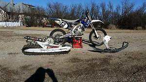 2010 yz450f. With explorer track kit