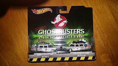 Hot wheels Classic Ghostbusters Ecto-1 & Ecto 1A 2 Pack Diecast Vehicle