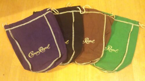 Lot of Four Different 750ml Crown Royal bags.