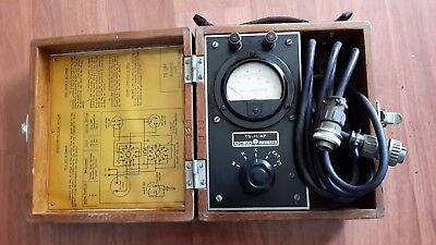 Vintage Ww2 Military Marion Tester Milliamperes Usa Ts 11ap Wood Box