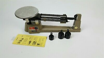 Ohaus Triple Beam Balance Scale 2610 Grams Weights