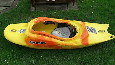 Pyranha S6F 192 Kayak Great River Running Play Boat in Yellow/Orange.