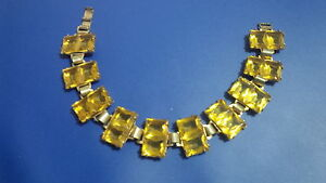 Vintage citrine link bracelet.