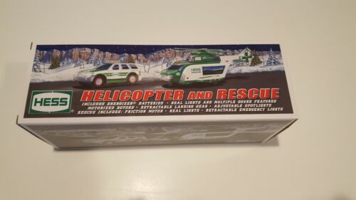 2012 HESS TOY TRUCK HELICOPTER AND RESCUE. NEW IN BOX