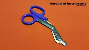 Utility-Scissors-EMT-EMS-Shears-Bandage-Paramedic-Nurse-Supplies-7-25-034-Blue