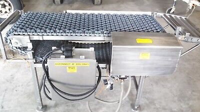 Ss Conveyor With Roller Plastic Belting Pneumatic Assisted Diverter