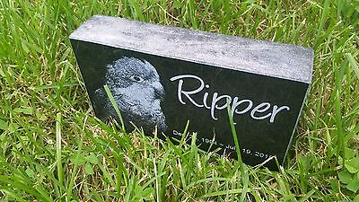 "Personalized Pet Stone Memorial Grave Marker 4"" X 7"" Dog ..."
