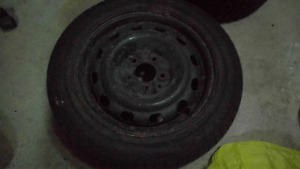 Selling 4 Mazda 3 Steel Rims 16in. 5x114.3mm + Tires
