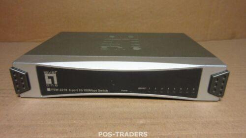LEVEL ONE FSW-2218 8 Port 10/100Mbps RJ-45 Switch Ethernet Netzwerk