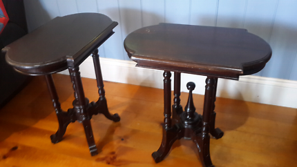 PAIR OF VINTAGE TIMBER BEDSIDE TABLES New Farm Brisbane North East Preview