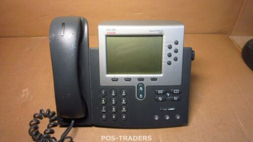 Cisco CP-7960G Unified IP Phone Telephone VOIP 2 x RJ-45 Telefon + HANDSET