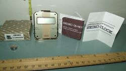 Seiko Vintage Quartz Gold Travel Alarm Clock QEK203F Japan with Box & Papers EXC