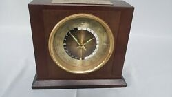 World Time Desk Mantel Clock in Wood Case by Bulova