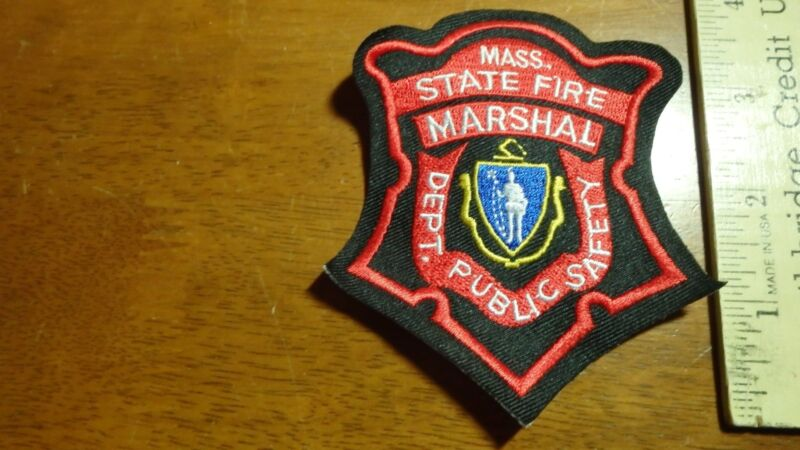 MASSACHUSETTS STATE POLICE DEPART PUBLIC SAFETY   FIRE MARSHALL  PATCH BXG  50
