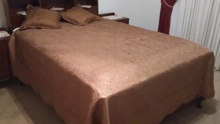 Brown bedspread