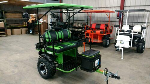 2 seat  custom golf cart trailer pull behind  Tag-a-long brand yamaha ezgo