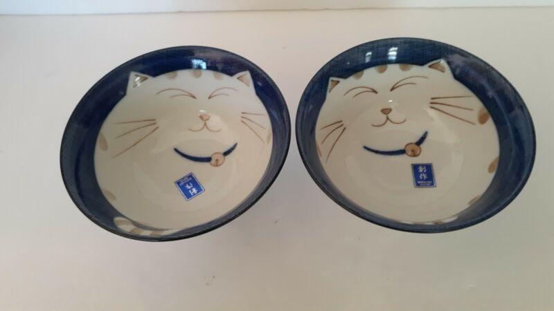 (2)Sousaku Japanese Happy Fat Cat Noodle~ Soup ~Rice  Bowls