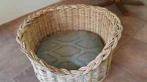 WICKER DOG BASKET & CUSHION Victoria Park Victoria Park Area Preview