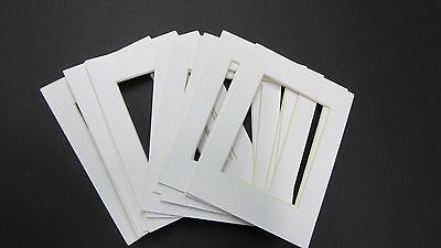 Picture Framing Mats 3x5 for 2.5x3.5 ACEO white mat set of 2