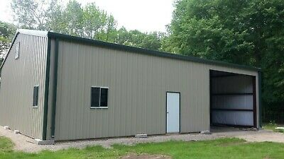 30x50x12 Steel Building Simpson All Galvalume Metal Building Kit Garage Storage