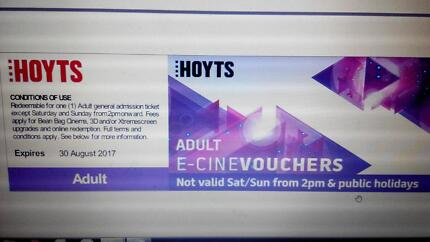 HOYTS MOVIE TICKETS restricted