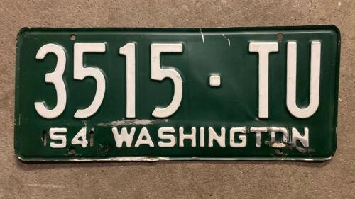 1954 Washington truck license plate 3515 TU 1955 1956 1957 Okanogan County Omak