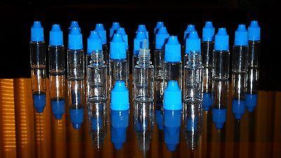 Blue Cap 50pc 10ml Plastic Bottles Squeezable Dropper Bottles E- Liquid Needle