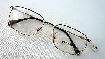EBM Fassung Titanbrille Herren Akzent-Bügel eckig groß hochwertig 56-16 size M