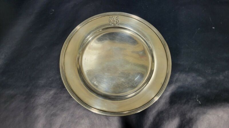 """Vintage Tiffany & Co. Makers Sterling Silver Cookie Saucer Bread Plate, 6"""""""