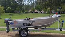 Quintrex 355 Dart Tinny, 8hp motor, trailer and heaps of extras Morayfield Caboolture Area Preview