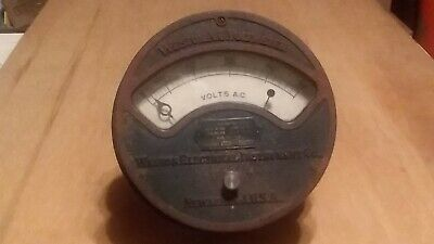 Antique Weston A. C. Voltmeter Newark N.j. U.s.a. 1890s 1913 Patent Dates