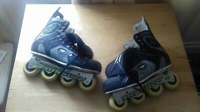 """""""Mission"""" """"ProtoV"""" professional inline hockey skates in a uk size 11."""