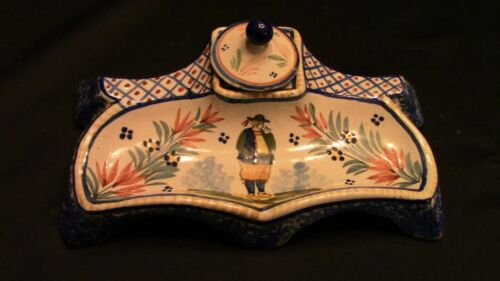 A Lovely French Quimper Inkwell