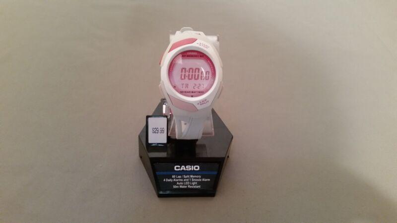 Casio Women's Runner Eco-Friendly Digital Watch White STR300-7